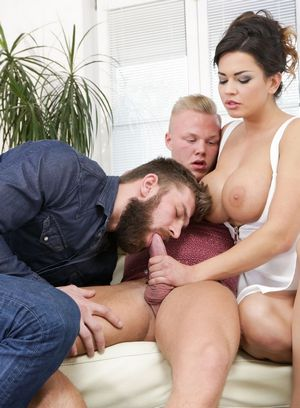Chloe D, Christian Dean and Nico A suck and fuck
