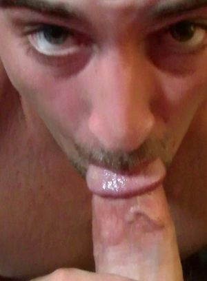 Pretty boy sucking on a huge piece of meat