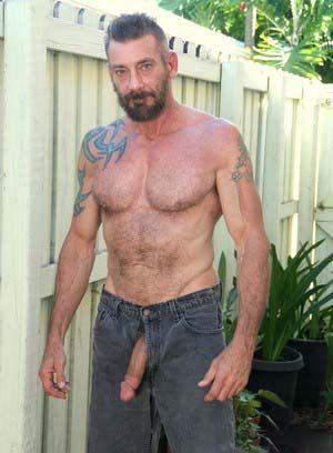 Dane Dexter shows off his fat cock